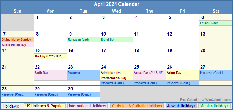 Results Calendar April : April monthly calendar printable search results