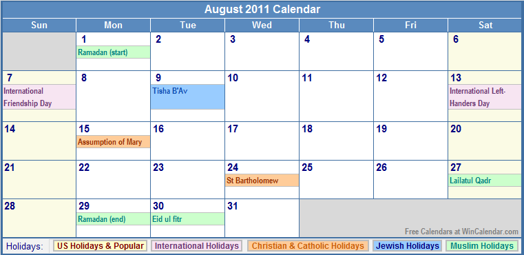 new dating sites 2011 calendar