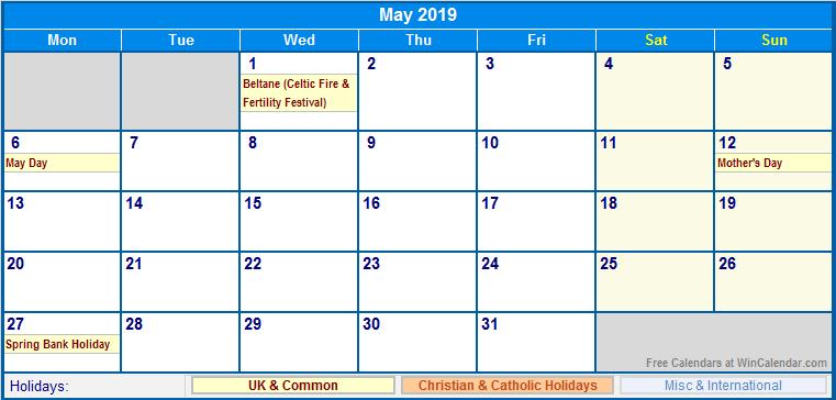 Calendar Showing May : Image gallery may calendar
