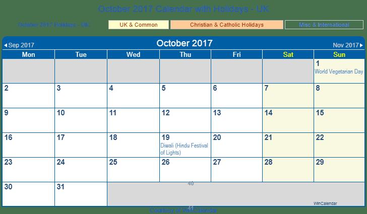 2017 printable calendar with holidays