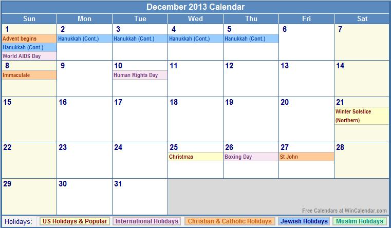 the temptation news  calendar 2013
