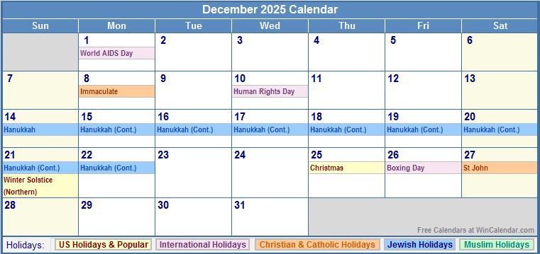 761 x 359 png 22kB, Printable December 2025 Calendar with Holidays.