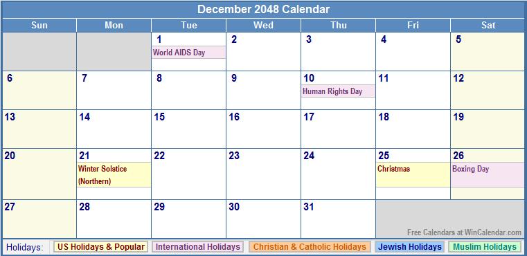 2048 Calendar   New Calendar Template Site