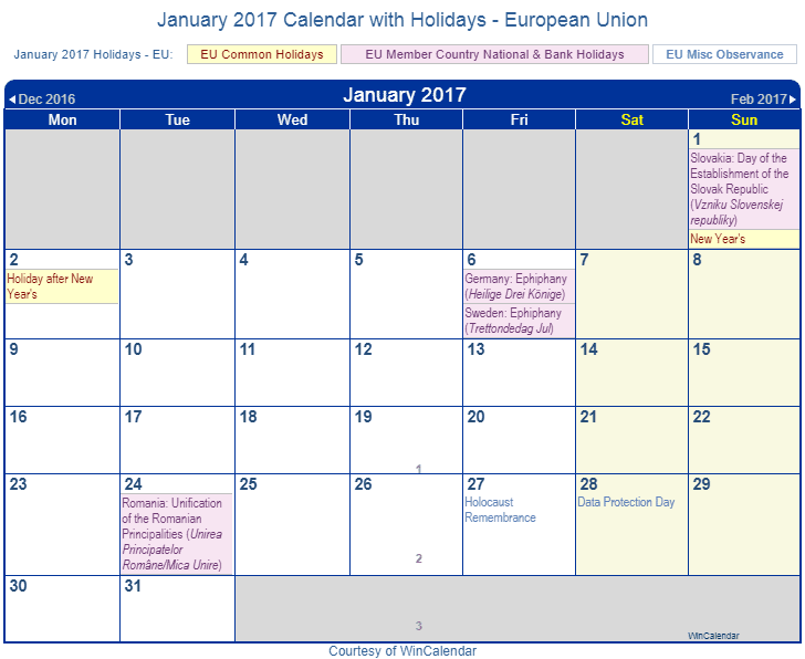 """January Calendar 2017 With Holidays : Search results for """" calendar with holidays"""