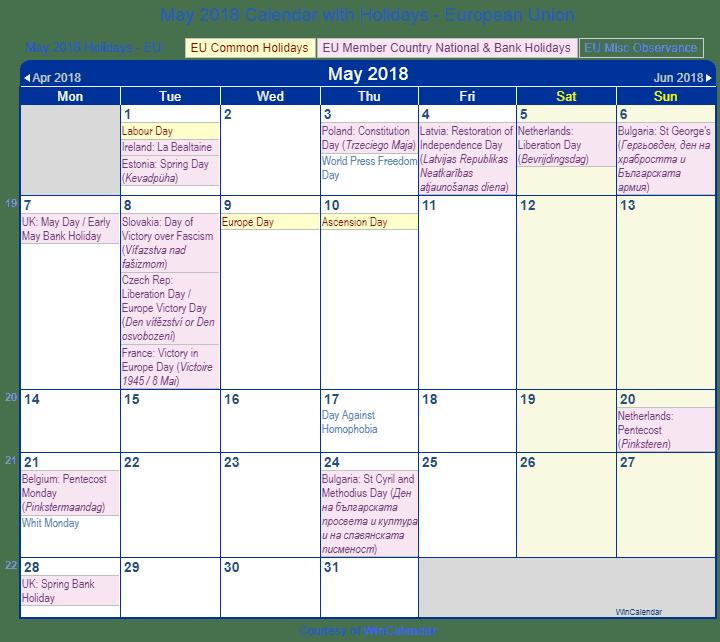 May Calendar Wincalendar : Print friendly may eu calendar for printing