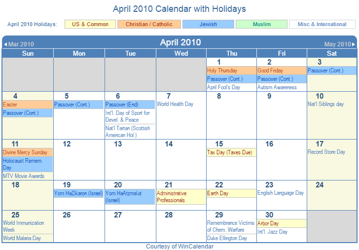 "Results Calendar April : Search results for ""calendar of jewish holidays"