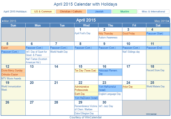 "Results Calendar April : Search results for ""holiday in april calendar"
