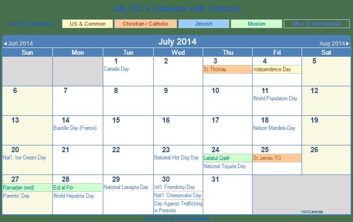 2014 calendar pdf with holidays