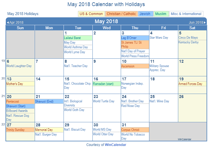Calendar May 2018 Png : Calendar with holidays pictures to pin on pinterest