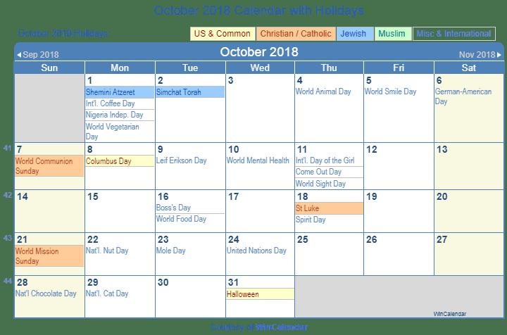 October Holiday