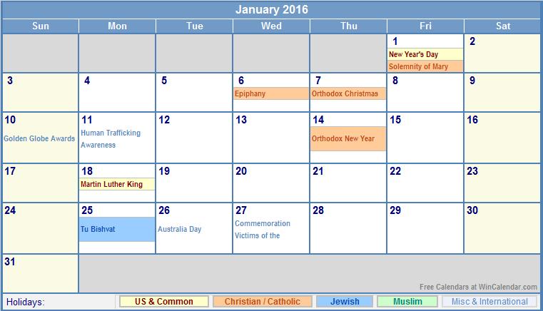 February 2016 Calendar Free | Calendar Template 2016