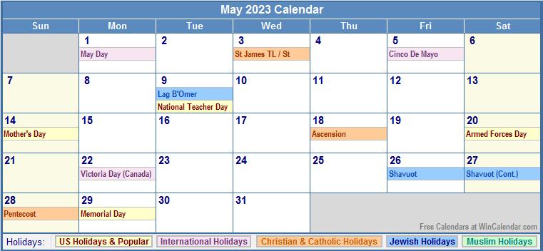 May Calendar Wincalendar : May us calendar with holidays wincalendar win