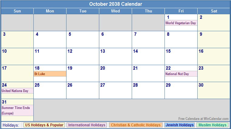 ... for: Calendar For October 2014 With Holidays For Canadian Holidays