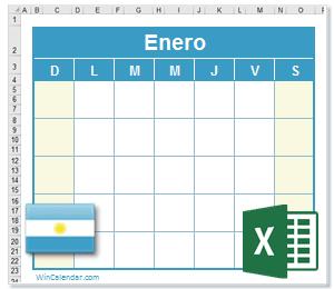 Calendario 2016 Argentina.Calendario Excel 2016 Con Dias Feriados Argentina