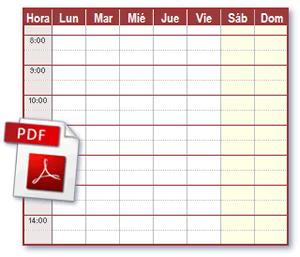 Archivos de Horario PDF ideales para imprimir