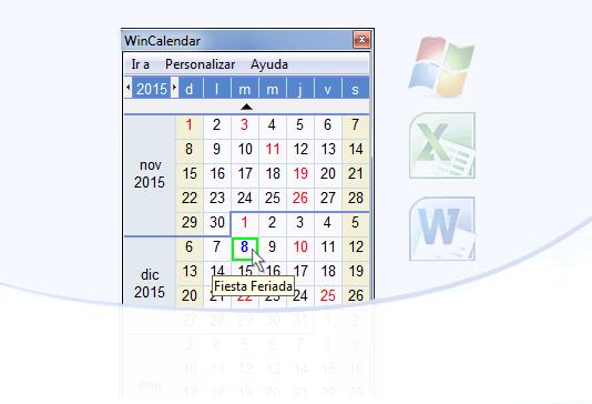 Calendario Gratis, y Software Creador de Calendario para Word y Excel ...