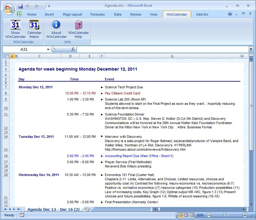 agenda template word 2007