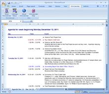 Google Calendar to Agenda