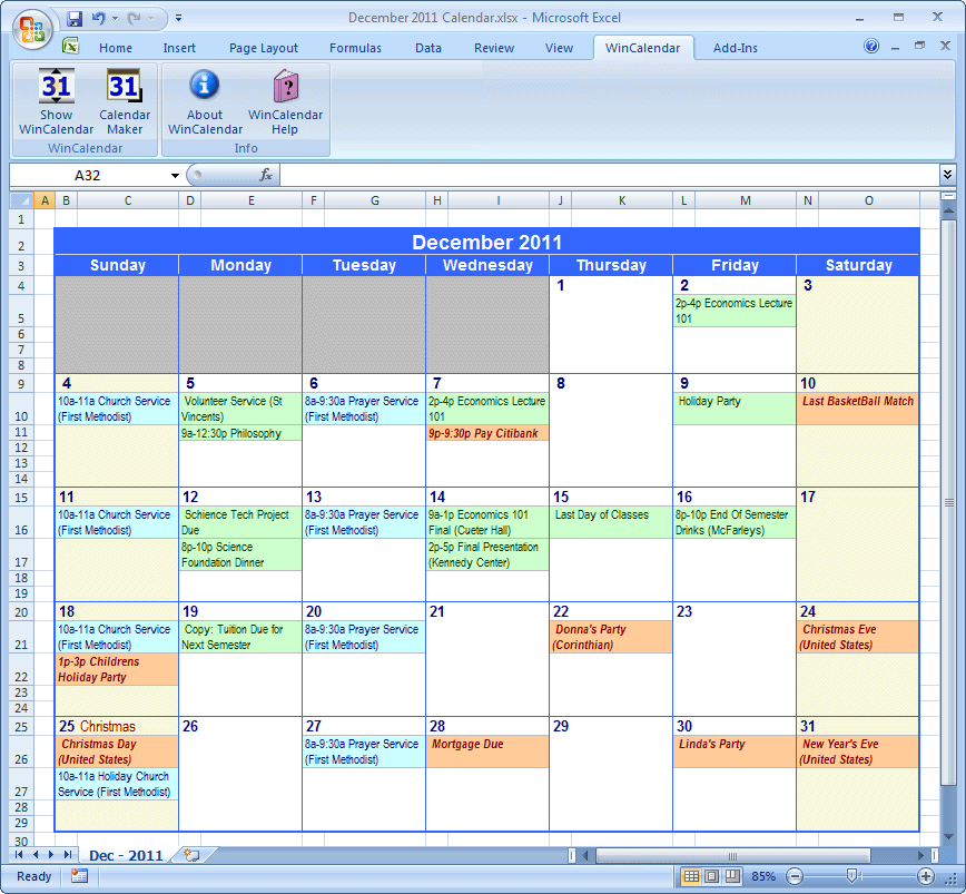 2015 Excel Holiday Planner | New Calendar Template Site