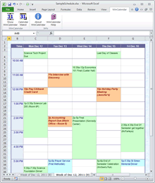 Calendar Maker Options
