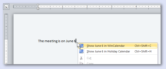 how to change dates in microsoft word calendar