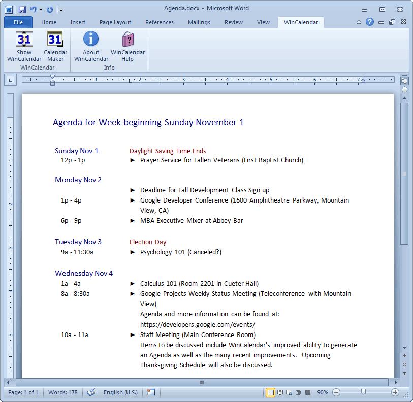 Calendar Maker & Calendar Creator for Word and Excel