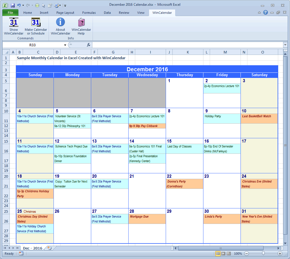 communication calendar template excel