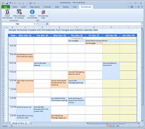 Monthly Calendar with iCal data