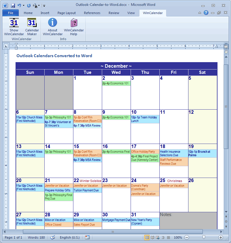 Calendar Template For Excel 2010 Mandegarfo