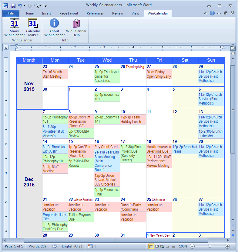 calendar maker  u0026 calendar creator for word and excel