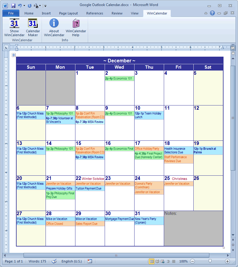 Calendar Planner Maker : Calendar creator for microsoft word with holidays