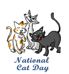 national cat day calendar  history  facts  when is date kwanzaa clip art black and white free kwanzaa clipart