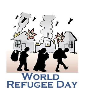 Image result for World Refugee Day CARTOON