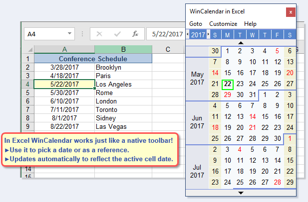 Ediblewildsus  Pretty Free Excel Pop Up Calendar And Excel Date Picker With Exciting Calendar In Excel With Appealing Age Calculator In Excel Also Excel Fuzzy Matching In Addition Microsoft Excel Timeline And Microsoft Excel Loan Amortization Template As Well As Microsoft Excel Online Classes Additionally Bell Curve Excel  From Wincalendarcom With Ediblewildsus  Exciting Free Excel Pop Up Calendar And Excel Date Picker With Appealing Calendar In Excel And Pretty Age Calculator In Excel Also Excel Fuzzy Matching In Addition Microsoft Excel Timeline From Wincalendarcom