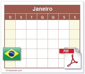 Calendário PDF Brasil